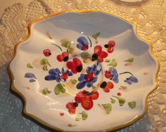 Vintage Made in Italy Footed bowl or Pedestal fruit bowl Li Pino Italy Italian Made Fruit Bowl Made in Italy bowl Made in Italy fruit bowl