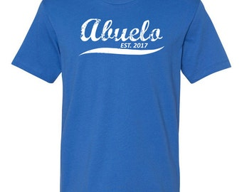 Abuelo Est (Any Year) T shirt Custom Gift For Dad Personalized Father's Day Grandpa Best Dad Birthday Gift For Him Father Mens Tee - JM250