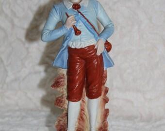 Biscuit porcelain TROUBADOUR figurine
