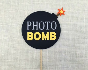 Photo Bomb Photo Booth Prop / Photobomb Photo Prop / Photobooth Photo Bomb Sign / FULLY ASSEMBLED