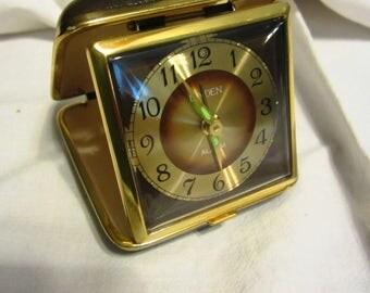 Vintage Linden Japan Wind-Up Travel Alarm Clock Mechanical Movement