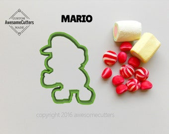 Mario Cookie Cutter. Nintendo Cookie Cutter. Mario fondant