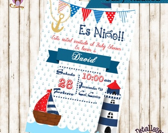 Invitation Baby Nautica