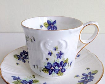 Royal Grafton Vintage Floral Cup and Saucer Fine Bone China