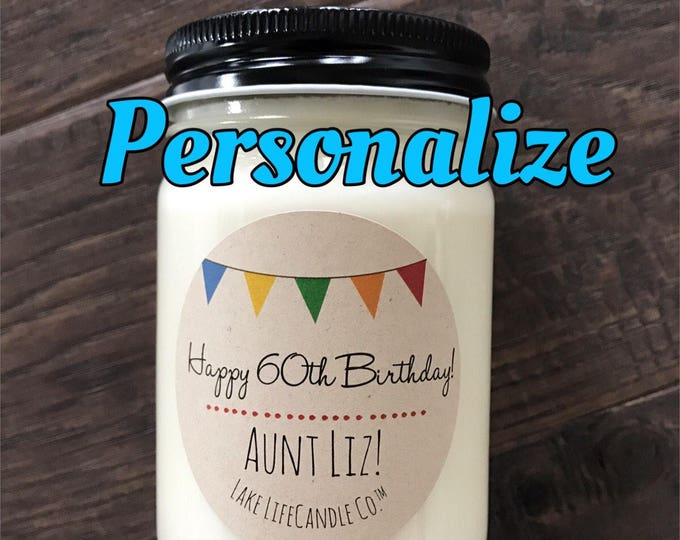 Personalized Candle: Lake Life Candle Co.