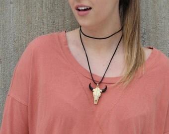 double wrap horn necklace