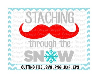 Staching through the Snow Svg- Dxf- Png-Eps, Cutting Files for Silhouette Cameo/Cricut snd Many More.