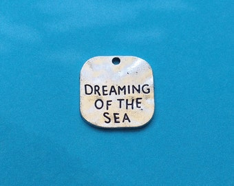 10 Dreaming of the Sea Word Charms Square Silver - CS2749