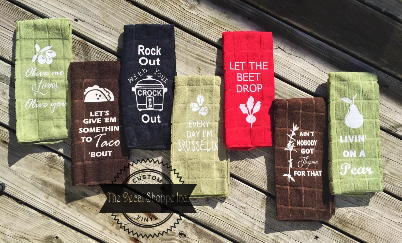 Kitchen Wedding Gifts: Kitchen Decor Funny Kitchen Towels Bridal Shower Gift Tea
