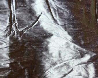 "Indian silk Dupioni Fabric.Lavender gray grey color.100% silk. 55"" wide . SD 3."