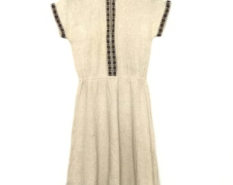 Vintage Folk Dress  // Handmade // Narodna Radinost Beograd// Made in Yugoslavia//
