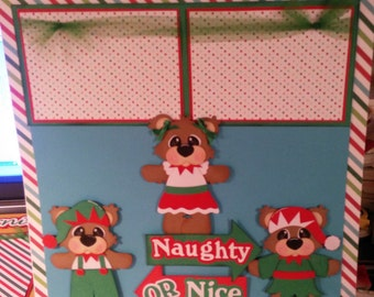 12x12 premade scrapbook page Naughty or Nice