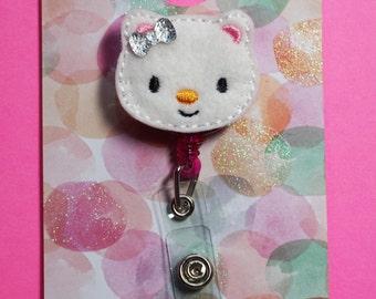 Kitty Retractable Badge Reel, Cat Badge Reel