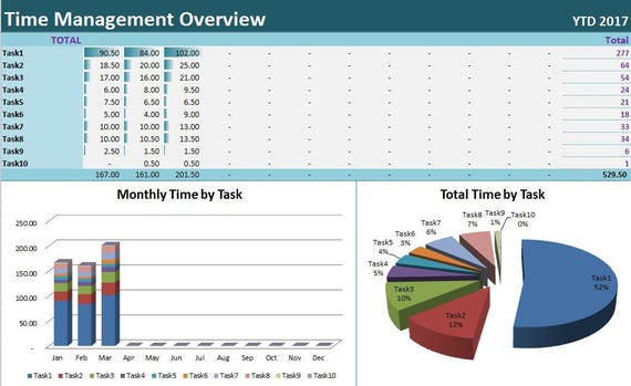 time tracker excel