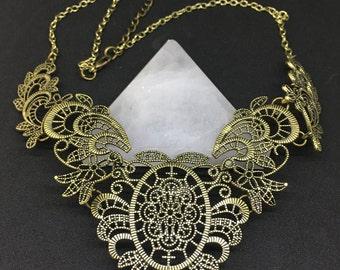 European Vintage Lace Flower Collar Chain Necklace