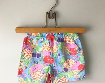 Super Cute 1980's Vintage Fruity Tooty Summer Shorts Size 2t - OSVKC0119