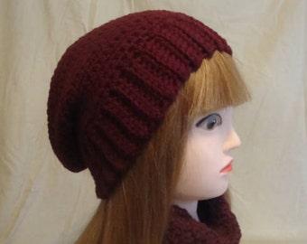 Burgandy Slouchy Hat, Burgandy Slouch Hat, Womans Burgandy Slouchy Hat,  Womans Burgandy Slouch Hat, Slouch Hat, Slouchy Hat