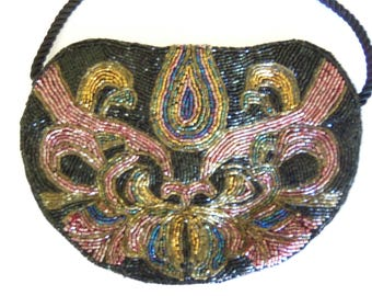 Beaded Evening Bag - Multi Color Evening Bag