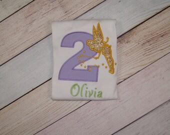 Personalized 2nd Birthday Fairy Shirt - Fairy Birthday Shirt - Girls Birthday Outfit - Birthday Outfit - Girls Fairy Birthday Party  Fairies