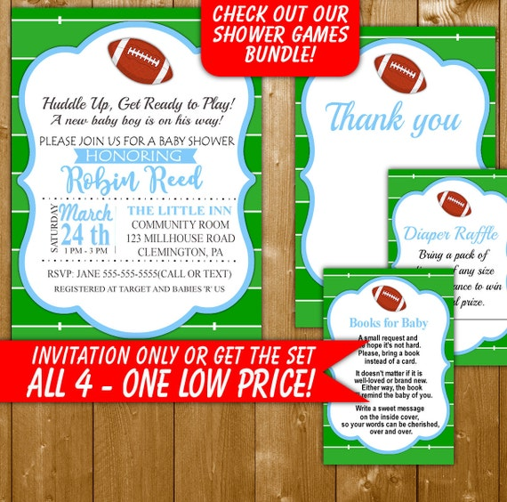 football baby shower invitation football baby shower diaper raffle