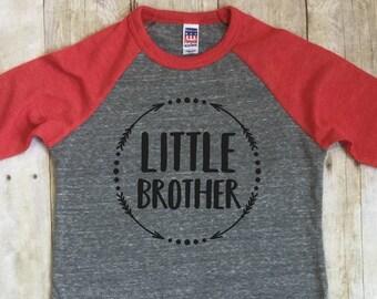Little Brother Shirt-Little Brother Announcement Shirt-New Brother Shirt-Baby Announcement Shirt-Sibling Shirt-Raglan Shirt-Big Brother