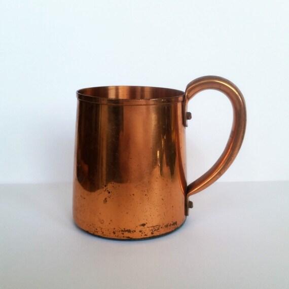 Solid Copper Mug by West Bend | Copperware Tankard / Stein | Vintage Moscow Mule Cup | 1960's Metal Drinkware / Barware