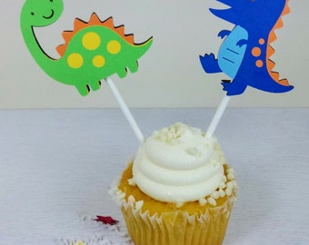 Dinosaur Cupcake Toppers, Dinosaur Birthday Theme, Dinosaur Decor
