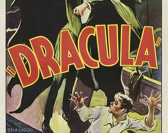 Dracula - retro horror movie poster 11x17