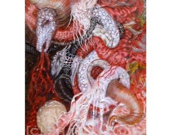Moon Sisters -  Original Art Painting Acrylic on Canvas