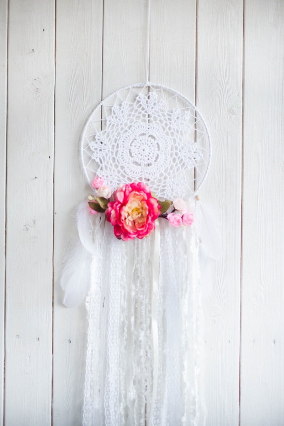 Flower Dream Catcher Dream Catcher Wall By Mysteriousforests