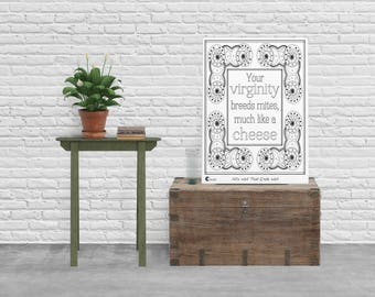 """Giant 18"""" x 24"""" Shakespeare Insult Coloring Poster 
