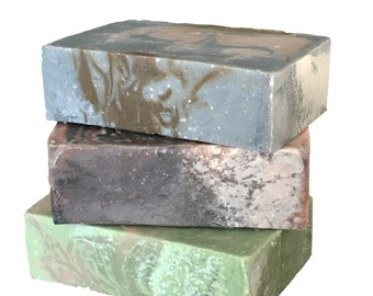Men's Soap Trio : Gift for him - Free Shipping