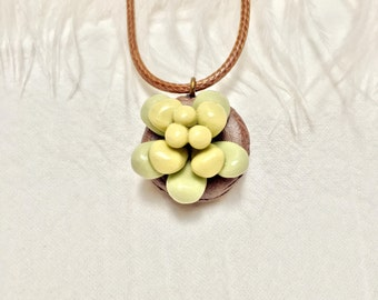 Porcelain Succulent Necklace
