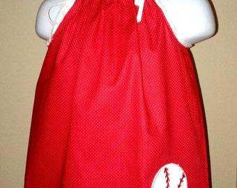 Red & White Baseball Dress