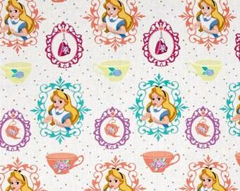 Disney Alice And Wonderland Afternoon Tea Cotton Fabric
