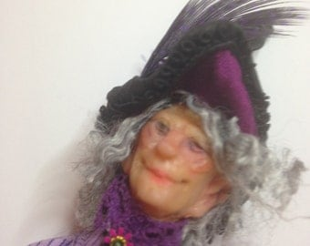 12:1 Scale Doll House Purple Witch