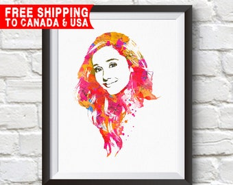 Ariana Grande Print, Ariana Grande Poster, Ariana Grande Art, Home Decor, Gift Idea, Free shipping to canada & usa