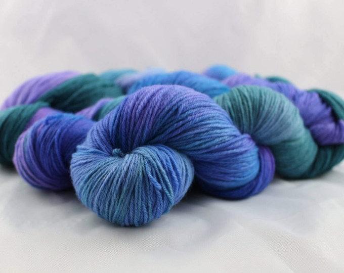 Ocean Pearl - Fingering Weight - Sock Yarn - Dottie Base - 70/30 Merino Silk - 440 Yards/100 Grams