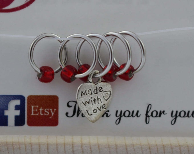 Stitch Marker Set - Made with love