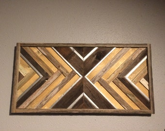 Rustic Natural Silver X Reclaimed Wood Wall Art