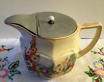 Vintage  Swinnertons jug with cottage garden scene