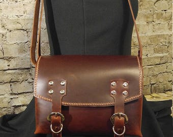 Satchel style shoulder bag, handmade - Ready to Ship