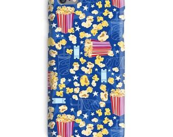 Popcorn iPhone Case, Cinema iphone case, Blue iphone 6 case, Pocorn iphone 6 case, Cinema iphone 6s case, Film iphone case