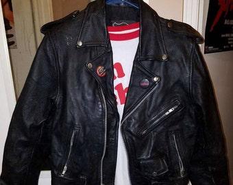 Genuine Leather Men's Motorcycle Jacket