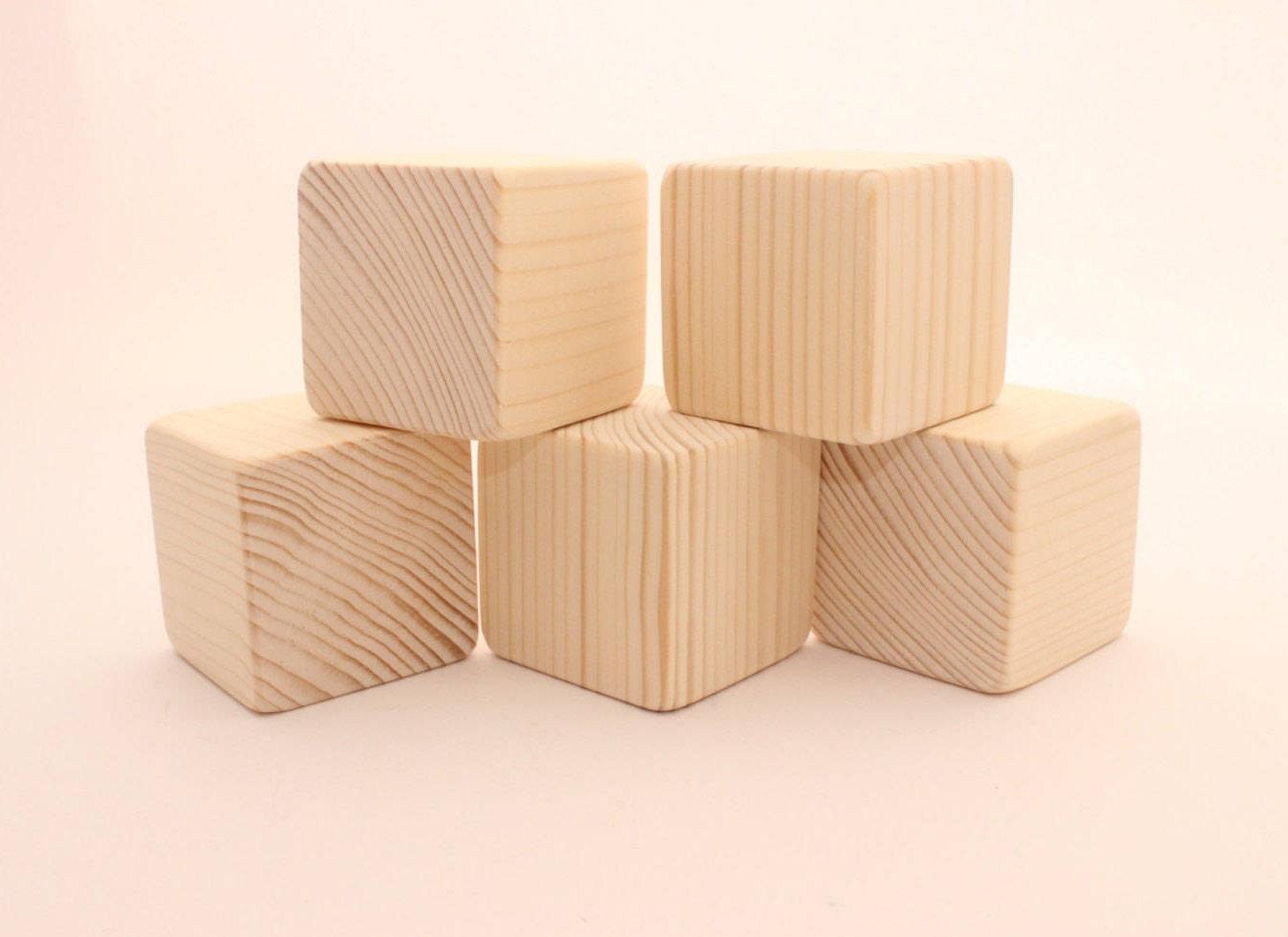 unfinished wooden blocks 2 5 cm 2 inch blocks. Black Bedroom Furniture Sets. Home Design Ideas