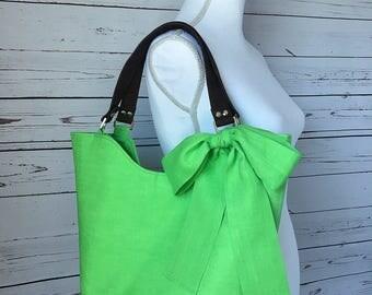 Summer Tote / Green Tote / Lime Margarita Cabana Tote