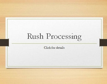 Rush processing for HeirloomLeathersmith