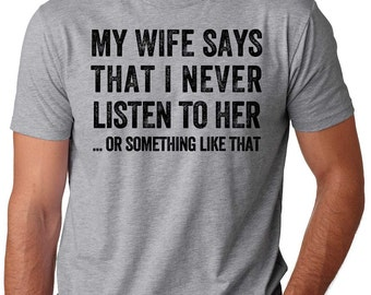 Funny T-shirt Gift for Hubby Gift for Husband Cool gift idea funny Valentine's Day T-shirt Tee Shirt Custom Made Shirt