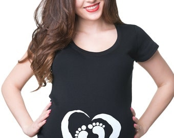 Maternity Funny T-Shirt Baby Shower Tee Shirt Maternity Clothing New Mom New Dad New Baby Apparel Pregnancy Top