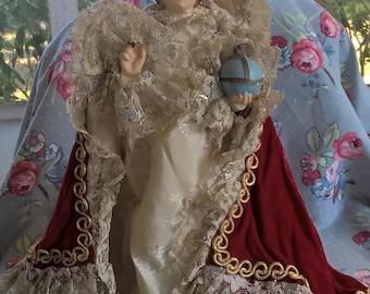 Vintage Infant Of Prague Chalkware Statue